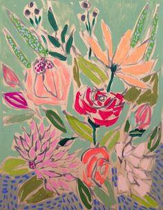 Lulie Wallace Art — 11x14 Flowers for Ellis