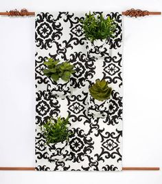 #DIY Home Decor Idea | Fabric Hanging Floral Pots | Supplies available at Joann.com | Click through for full directions!