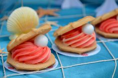 """""""Oyster Shell  & Pearl""""Cookies at a Mermaid Party  ::  Perfect for my Pearl!"""