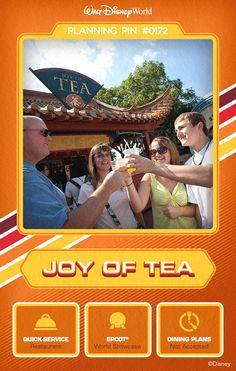 Walt Disney World Planning Pins: Joy of Tea