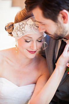 Unique bridal headpiece | Urban Safari Photography | see more on: http://burnettsboards.com/2014/09/four-seasons-denver-wedding/
