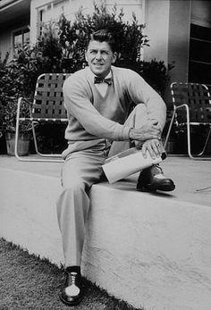 Ronald Reagan at home.