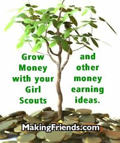 Ideas for money earning with your Girl Scout troop from MakingFriends.com