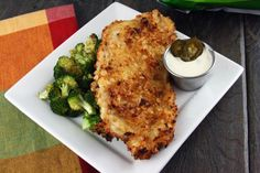 Jalapeno Kettle Chip Encrusted Chicken with Jalapeno Ranch Dipping Sauce