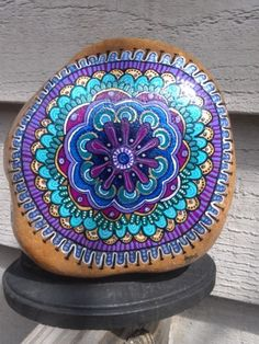 color, painted stones, rock art, pet rocks, painted rocks, paint rock, stone art, blues, mandala