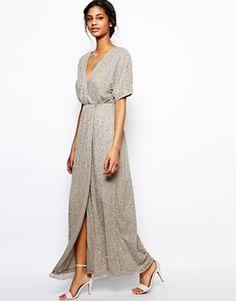 sequin Kimono maxi dress