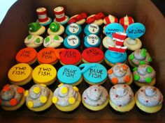 These Seuss-tastic cupcakes look delish!