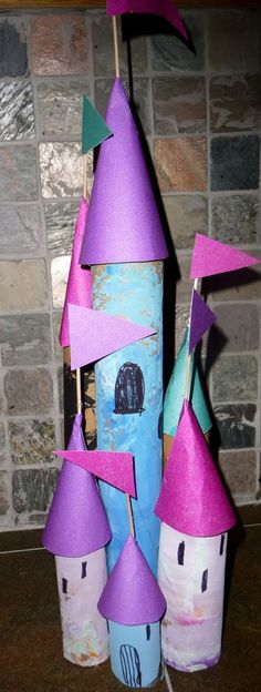 Tube Castle finally see an idea that I like for all those pesky tubes ppl bring me in! paper tube, princess crafts for kids, castle project, castles kids, princess crafts kids, castl kid, papers, kids toilet paper roll castles, tube castl