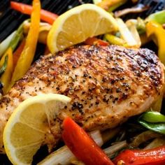 Brine boneless, skinless chicken in lemon and garlic salt to pump up the flavor before throwing it on the grill or under the broiler. Lemon Pepper Grilled Boneless Skinless Chicken