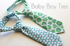 Baby boy ties, FINALLY a fabulous tutorial for these cute little guys! So excited to try this!