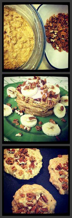 Whole Wheat Banana Crunch Pancakes
