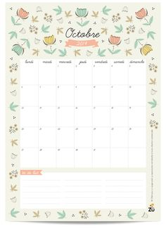 Calendar October 2014 DIY - by Zü