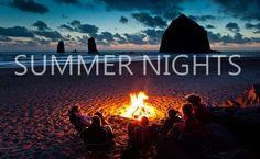 bonfir, cannon beach, beach camping, at the beach, oregon coast, summer nights, place, friend, campfir