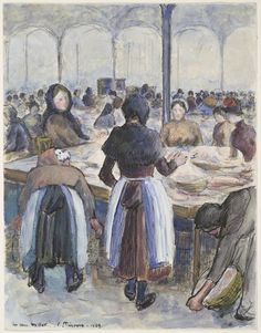 Camille Pissarro, The Market Place, 1889, Harvard Art Museums/Fogg Museum.