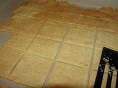 Paleo crackers Coconut flour, almond flour, avacado oil, and spices! yum