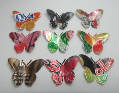 Butterflies are my favorite! These were crafted out of soda cans