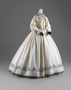 Promenade Dress 1863, American, Made of cotton