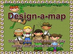 Design-A-Map from Rockin' Lessons on TeachersNotebook.com -  (6 pages)  - Have your students DESIGN their own country while reviewing PARTS OF A MAP!  They will design a country, label capital city, label other cities, and physical features such as mountains and rivers.