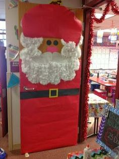 Top Dog Teaching with Mrs. Delzer: Santa Christmas Door Decor! santa door, christma door, xmas door, door decor, christmas door