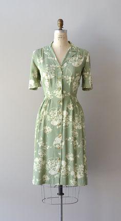 vintage 1940s dress | Island Fronds dress