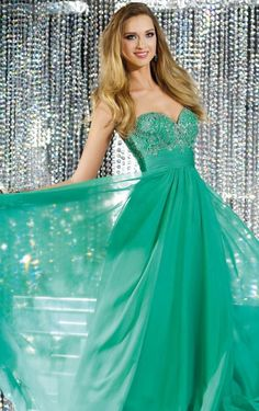 Shop Stylish A-line Floor-length Green Dress Online Sale from Favodresses - 217 - pro - d130622021