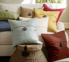 Textured Linen Pillow Cover #potterybarn