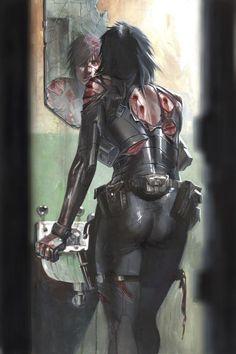 — Cyberpunk, Dystopia, Future Girl, Futuristic Clothing, Domino...X-Force: