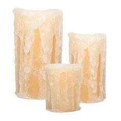 Amazing Flameless Candle Honeysuckle Flameless LED Pillar Candles