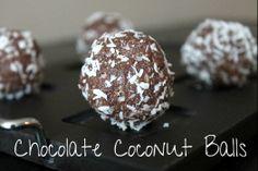 Chocolate Coconut Balls | Spinach 4 Breakfast