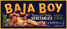 (Vegetable Crate Label - Circa 1940's)   Vintage Gay Impressions  An eclectic collection of authentic vintage printed materials including advertisements, books,magazines, posters & memorabilia.    GAYTWOGETHER.COM