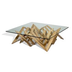 Futura Cocktail Table With Glass