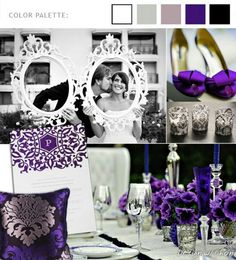 Royal purple wedding idea
