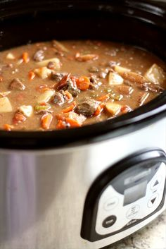 THE BEST CROCKPOT BEEF STEW. I added green beans & peas. Used lamb instead of beef and served over rice. YUM