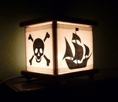 Pirate Lamp Pirate Night Light Lantern Nightlight by babymamma1, $23.00