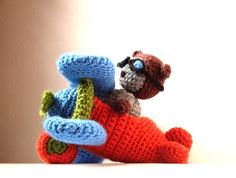 Crochet Pattern Airplane Cat Amigurumi by MysteriousCats