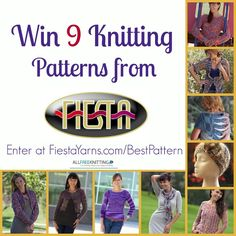Vote for a Chance to Win 9 Patterns from Fiesta Yarn & @AllFreeKnitting