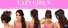 4 Lazy Girl's Easy #Hairstyle Hacks | #hair tutorial