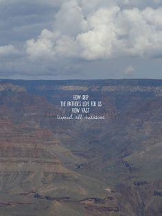 """how deep the Father's love for us // grand canyon // photographic 8x10"""" art print"""