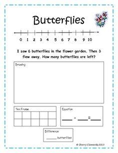 Problems, Common Core Kindergarten Free, Problem Common, Subtract Word ...