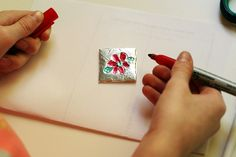 Foil Pendant Craft for Kids | Make and Takes