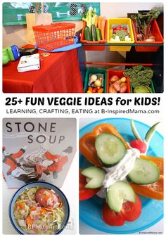 Vegetables for Kids - 25+ Ideas for Making Them FUN and Tasty at B-Inspired Mama [#sponsored #ILikeVeggies #CleverGirls]