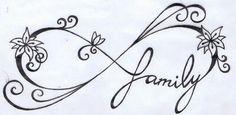 Family infinity tattoo design