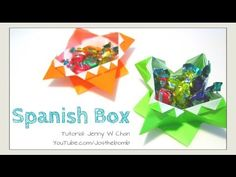 DIY Halloween Crafts - How to Fold Origami Box - Spanish Box - Treat/Can...