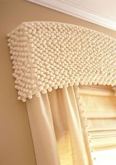 wonder if i have enough of this to make one ball fringe Valance for our bathroom or the closet window?