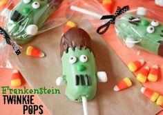 Twinkie Frankenstein Pops