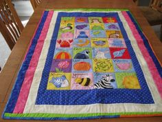 Girl Baby or Toddler Alphabet Quilt and Board by quiltedbykaren, $65.00