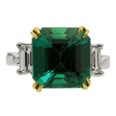 An Important 6.01ct Colombian Emerald Diamond Ring