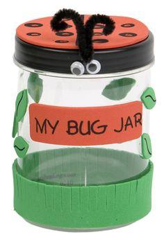 jar crafts, bug jar, insect, preschool, kid