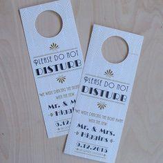 Wedding Door Hanger Art Deco Do Not Disturb by JenSimpsonDesign, $85.00