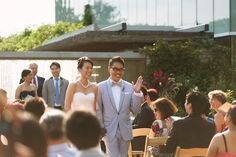 Cindy and Bowen's Wedding | Floral Hall Courtyard | Toronto Botanical Garden